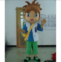 Wholesale Dora The Explore Diego Boy Mascot Costumes Halloween Cartoon Adult Size Fancy Dress