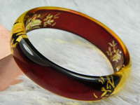Wholesale Amber Carved Bracelets Chinese Style Retro Ethnic Han Chinese Clothing Bohemia