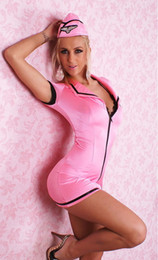 Wholesale Discount price for Latest sexy pink color Air hostess costume Days return policy