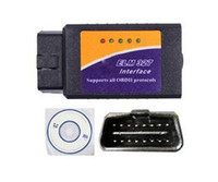 Wholesale Portable Scanner ELM327 OBD2 OBDII V1 Bluetooth Car Diagnostic Interface Scanner ELM OBDII