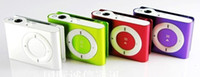 Wholesale Hot new Mini Mp3 player with card slot MP3 earphone USB cable box christmas gift MP3 Players