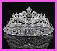 bridal crown - Wedding Bridal veil tiara crown headband CR187