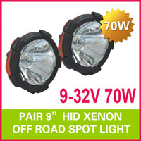Wholesale Pair quot W inch HID Xenon Driving Light Heavy Duty Truck SUV ATV WD Spot Flood Beam V lm