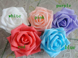 50pcs Dia.7cm Artificial Simulation PE Foam EVA Camellia Rose Wedding Christmas Party Bridal Flower
