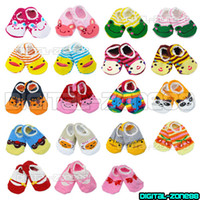 Wholesale 10 Pair Unisex Baby Kids Toddler Girl Boy Anti Slip Socks Shoes Slipper