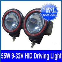 Wholesale 2pcs quot W HID Xenon Driving Light Heavy Duty Off Road SUV Spot Beam Flood Beam Truck V lm