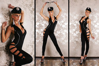 best funny costumes - Best offer for Latest sexy black color Female police costume Sample accepted
