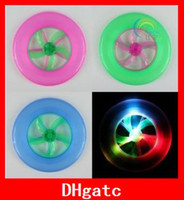 Wholesale Popular LED Rainbow Frisbees Flashing Frisbee Rotating Flywheel Luminous UFO Frisbees PP Flying Toy