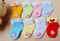 Cotton baby sox - Infant sock baby socks bow baby sox white socks baby wear socks for men