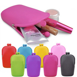 wholesale 5 pcs The new multicolor women silicone sets of mobile phone   wallet   cosmetic bag