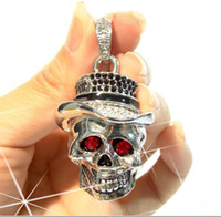 Wholesale High Speed Full Capacity USB FLASH DRIVER GB GB USB DISK U DISK Cool SKULL Pendant Necklace
