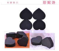 Wholesale Sponge Puff Bamboo charcoal Wash Cleaning Heart Type Facial Makeup Powder Wash Face Tool Cosmetic