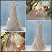 Wholesale 2012 Instore Romantic Sweetheart Beaded Wraped Ruffle Chiffon Court A Line Style Wedding Dresses