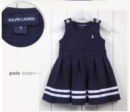 Wholesale Blue children Dress Skirts braces skirt Tank Dress Sweet Fashion Vest Dress Sleeveless Flower Dress