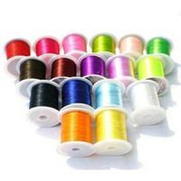 Wholesale Loose Beads Elastic Silk Thread Candy Colors Jewelry Stretchy Cord DIY Accessory