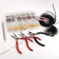Wholesale 5 SET Mixed Items JEWELLERY MAKING KIT BEADS FINDINGS PLIERS Handcraft Tools