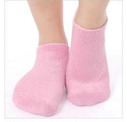 Wholesale EMS Top quality Pink Moisturize sock Soften Repair Cracked Skin Moisturizing Treatment Gel Spa Socks