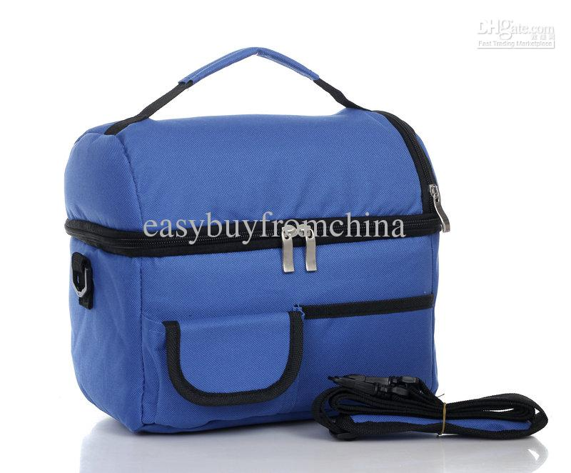 Picnic Lunch Bag Insulated Cooler Bag Two Compartments
