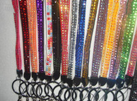 Wholesale Bling Lanyard Colorful Crystal Rhinestone Neck for ID Badge Holder Keychain Mobile phone Chain pc