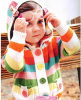 0-3years baby cardigan - Baby Boys Girls Cardigans Colorful Hoodies Kids Long Sleeve Sweaters with hat dandys
