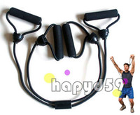 Wholesale men fitness equipment X pull rope chest expander resistance band Adjustable free ship