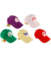 base ball caps - DHL colors Super Mario baseball hat cap base ball Cosplay Hat Hats red green purple