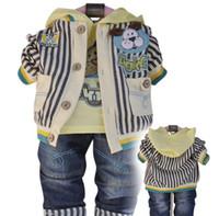 Wholesale Baby clothing Baby coat boy shirt boy t shirt boy pants baby suit colors free shiping