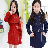 children fashion garment - New Arrival Children fashion garment Girls trench coat girl spring and autumn coat Sundress two wear