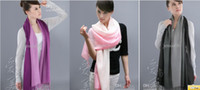 Wholesale Pashmina Cashmere gradient color Scarf Silk Solid Shawl Wrap Women s Girls Ladies Scarves