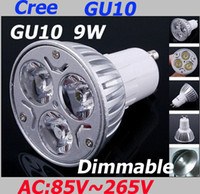 Wholesale 100pcs AA20 Dimmable x3W W GU10 Socket CREE LED Downlight Bulb Lamp Light Warm Cool White