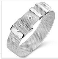 bangle watch sterling - LRJ women s silver Plated bangle Net watches belt bracelet H006