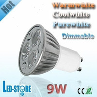 Wholesale Hot x High Power Dimmable GU10 X3W W V V LED Light LED Bulbs Lamps LED Spotlight