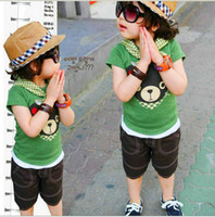Wholesale boys t shirts golf tshirts children sportwear jersey bears sweatshirts outfits tops tees shirts F150