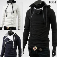 Wholesale 2012 New HOT Han Edition Men s Jacket Men s Double Zipper Thickening Take Cap Jacket Sweater