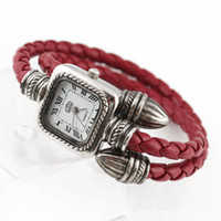 Wholesale Retro bracelet watch Punk style wrist watch Roman numerals fashion women watches many colors