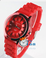 Wholesale 2012 fashion chrysanthemum watches WOMAGE silicone strap Quartz watch Sports watches student watches