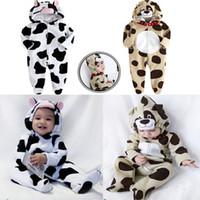 baby milk - Baby boy and girl animal romper babies milk cow leopard rompers Infant jumpsuits bodysuit baby wear