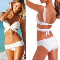 Wholesale New color Sexy Women Push Up Padded Swimwear Swimsuit Trikini Bikini Beachwear black White