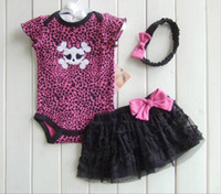 Boy/Girl baby mini romper - Summer Baby Clothing Girl Baby Clothes Set Baby s Romper Mini Skirts hairband piece Suit Babys Wear