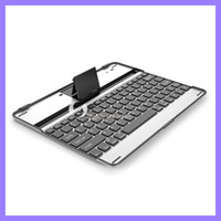 For Apple apple aluminium wireless keyboard - HOT Bluetooth Aluminium Keyboard case with stand for New ipad for ipad wireless keyboard mm ultra Thin for ipad