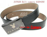 Wholesale 2pcs Camera DVR Unique Surveillance Tool Faux Leather Belt and Metal Buckle Design Hot sell avp029