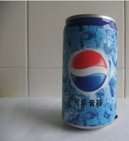 Wholesale New Arrival Pepsi Mini Speaker USB Portable Sound Box Multimedia Speaker With FM Radio