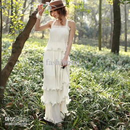 Wholesale Bohemia White Purple Chiffon Dress Cocktail Evening Party Beach Long Elegant Maxi Dress PYF234789133