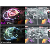 Wholesale Led Flashing Glowing Shoelaces Colours LED Shoe Laces flash Lighting the Night For party