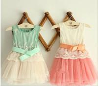 baby vests - Summer baby girls clothing grenadine lace vest children dress girls dress Year baby dresses