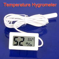 Wholesale Mini Digital LCD Thermometer Humidity Temperature Hygrometer White