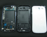 Wholesale Full Housing Battery Back Cover for Galaxy S3 SIII i9300 White Dark Blue