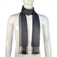 Wholesale High Quality men scarf stripe navy blue guys scarves Men s winter shawl hot selling in USA NL