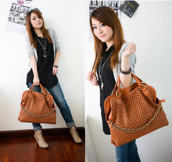 2012 New! Big Fashion Pu Leather Handbag Popular Shoulder Bag ...