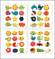 Wholesale 2400pcs Animal Fridge Magnet Colorful Cartoon Shape Learning Wooden Magnetic Toddler Children s Toys Christmas Gifts